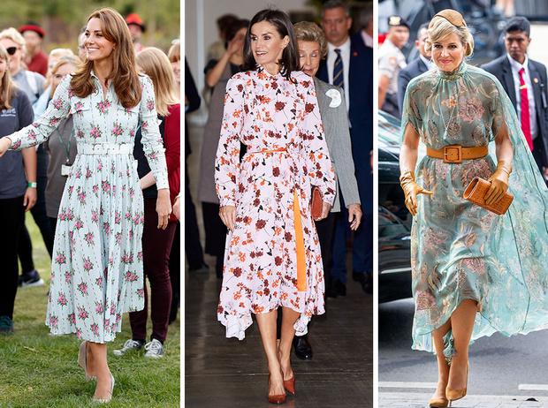 Фото №1 - Модный букет: как королевские особы носят цветочный принт