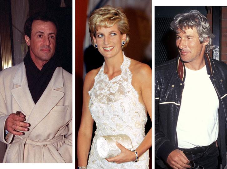 Фото №1 - Как Ричард Гир и Сильвестр Сталлоне едва не подрались из-за принцессы Дианы