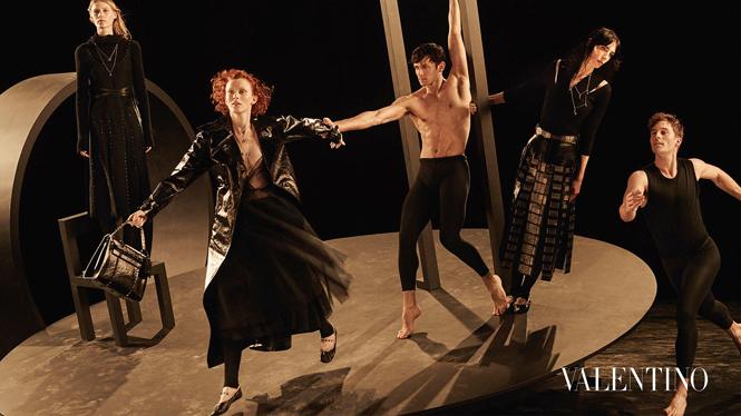Фото №7 - Fashion-танец в осенней кампании Valentino