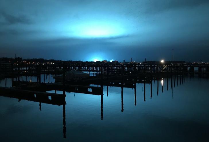 Фото №1 - Голубой свет над Нью-Йорком