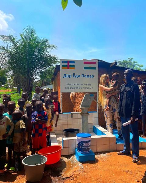Фото №2 - Дина Саева построила в Африке колодец в память об отце