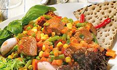 Тушеная говядина с овощами по-мексикански