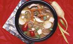 Мисо-суп с тофу и капустой