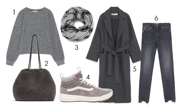 Фото №2 - Тепло и стильно: 3 модных лука с кедами, которые можно носить зимой