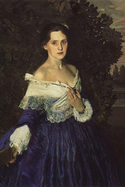 Константин Сомов, «Дама в голубом», 1897–1900