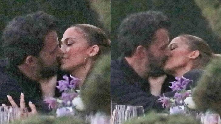 Фото №1 - Страстный поцелуй на десерт: Дженнифер Лопес и Бен Аффлек на романтическом ужине