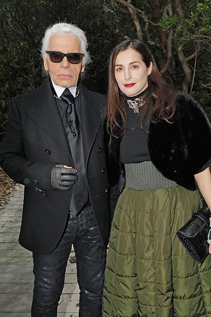 Amira Casar; Karl Lagerfeld