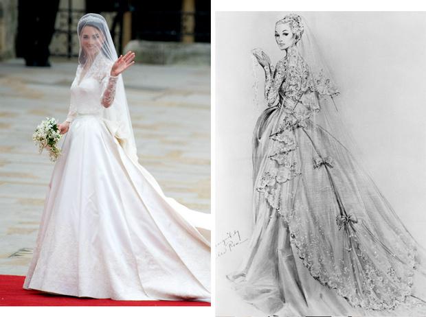 Фото №1 - Вдохновение для герцогини: чье свадебное платье скопировала Кейт Миддлтон