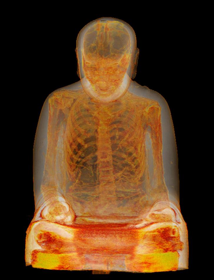 Фото №2 - В статуе Будды обнаружена тысячелетняя мумия медитирующего монаха