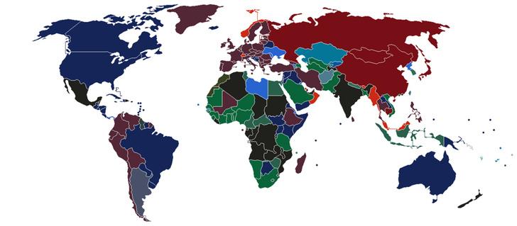 Фото №1 - Карта: цвет паспорта в разных странах мира