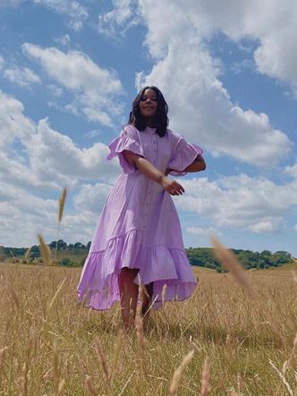 Фото №18 - Горная лаванда: 5 способов носить самый романтичный цвет
