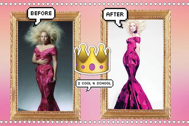 Леди Гага на обложке Vogue фотошоп