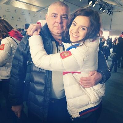 Аделина Сотникова с отцом