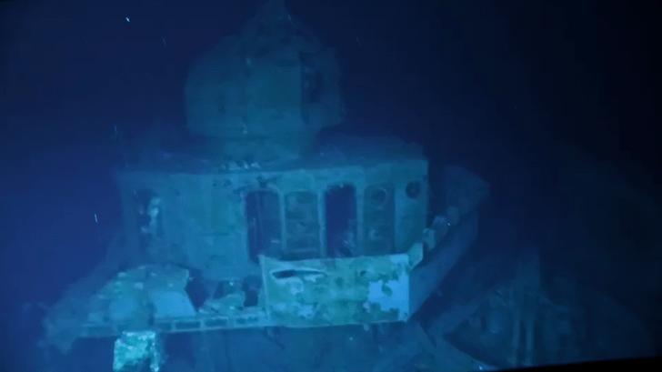 Фото №1 - Дайверы погрузились к эсминцу, лежащему на рекордной глубине