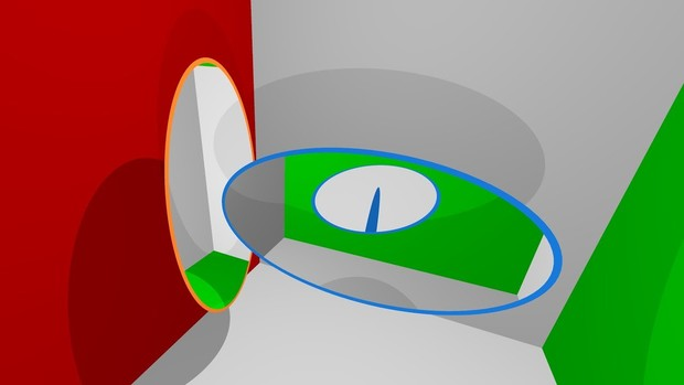 Фото №1 - Что будет, если один портал перпендикулярно засунуть в другой портал (видео симуляции)