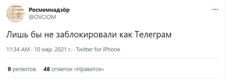 Фото №1 - Лучшие шутки о замедлении «Твиттера» Роскомнадзором