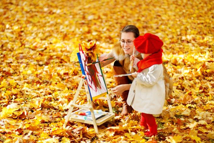 Фото №1 - Рисуем с ребенком осень: 5 интересных способов
