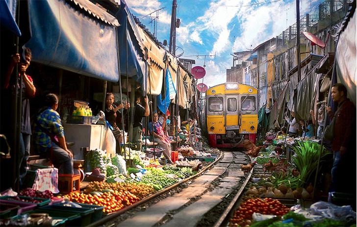 Фото №1 - Место дня. Рынок Меклонг (Таиланд)