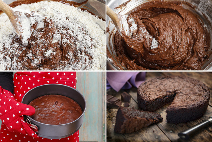 Фото №1 - Проще простого: рецепт шоколадного пирога без яиц, молока и сливочного масла