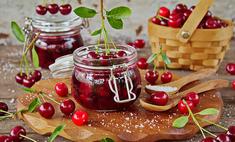 Варенье из вишни с базиликом