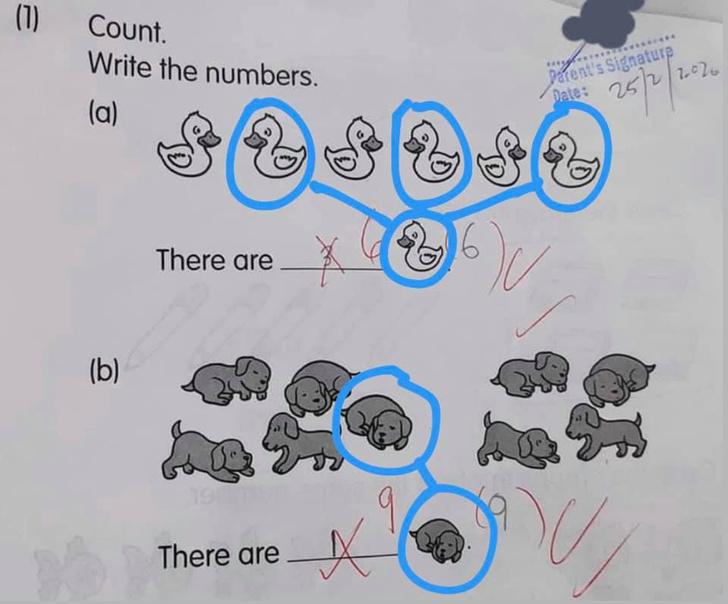 Фото №2 - Интернет спорит из-за ответов первоклашки на две простейшие задачки