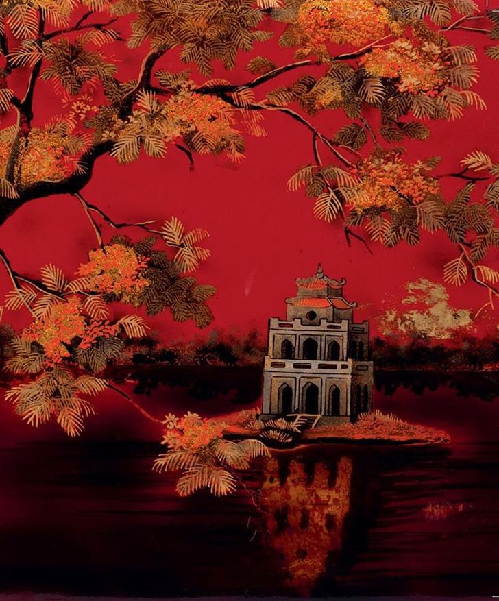 Переплет для альбома «Озеро Возвращенного меча» Вьетнам, первая половина 1950-х гг.