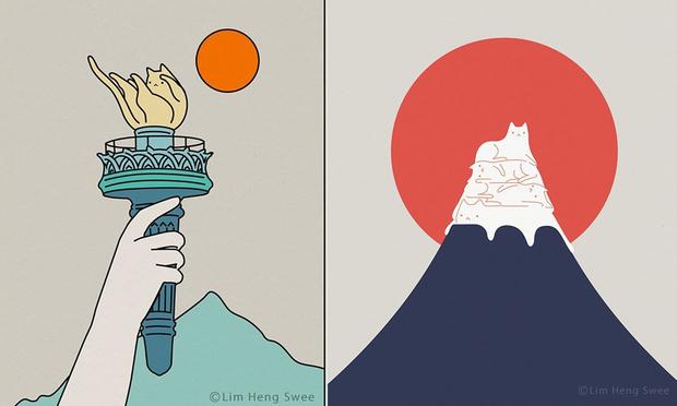 Фото №1 - 12 минималистских комиксов про котов