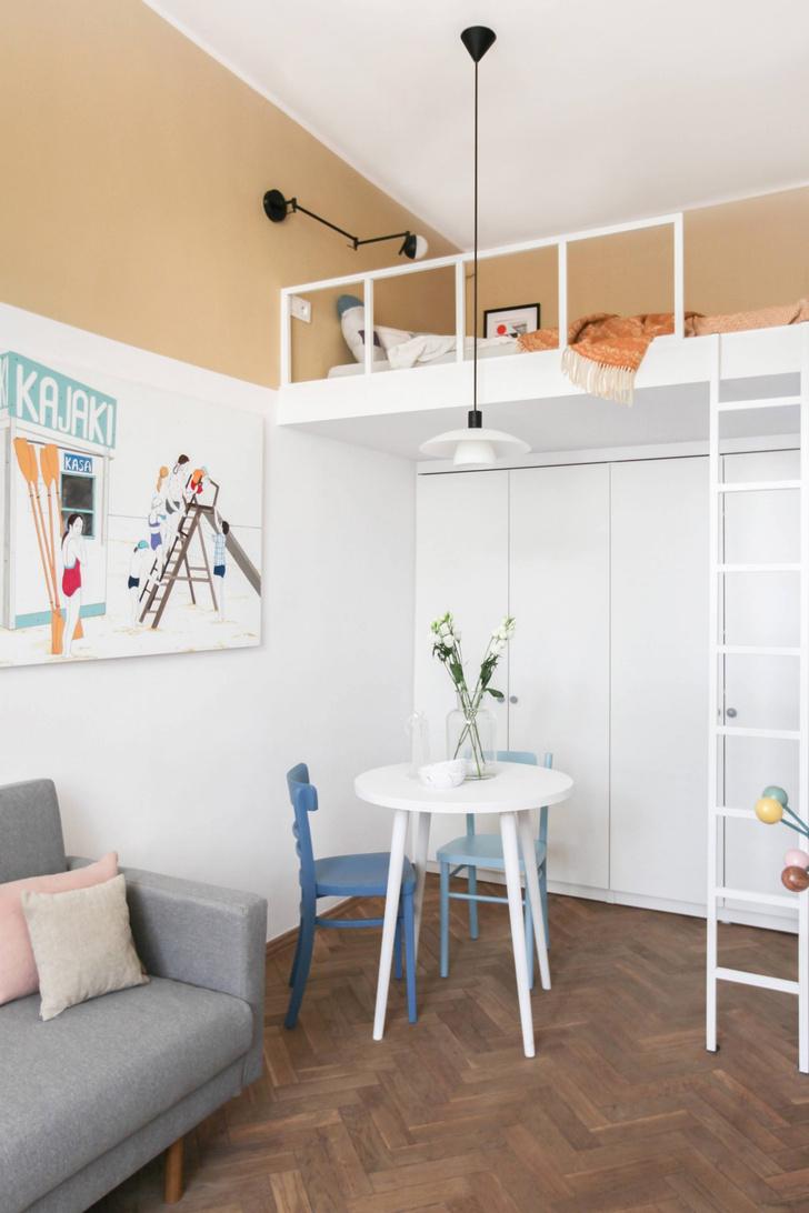 Фото №5 - Маленькая студия с кроватью на антресоли в Варшаве