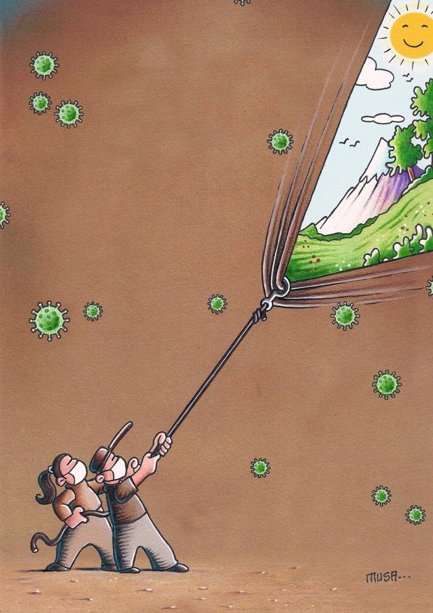 Фото №6 - 50 карикатур про коронавирус международного конкурса в Китае