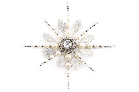 игрушка для елки Kersten, «Коллекция Праздник», Звезда сбусинами, «Азбука вкуса»