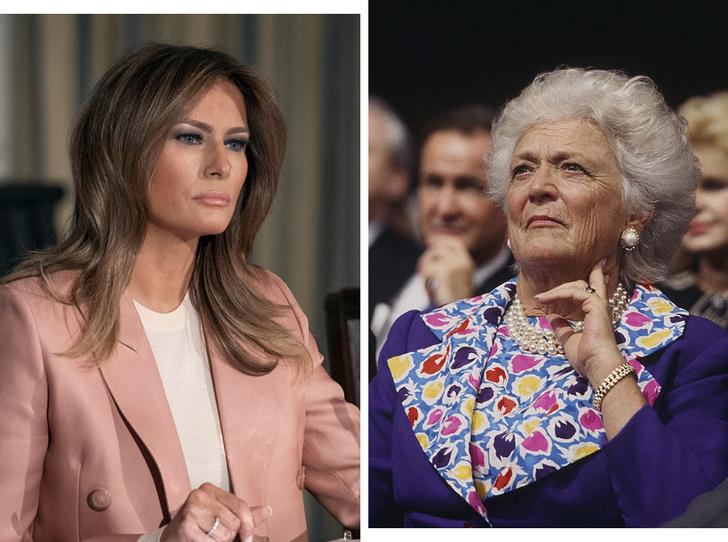 Фото №1 - Какой совет Мелании Трамп дала бывшая первая леди Барбара Буш