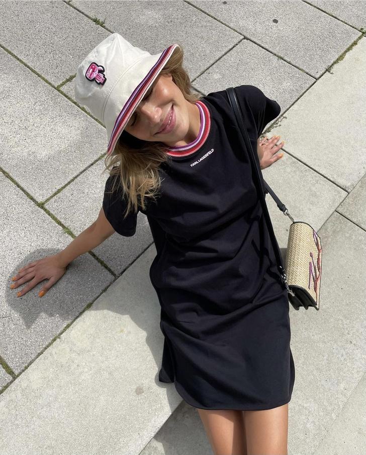 Фото №2 - Платье-футболка— лучшая вещь для жаркого лета. Доказывает Николь Потуральски