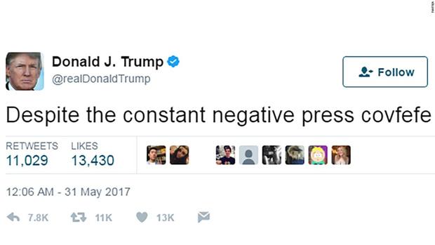 Фото №1 - Что такое covfefe или как твит Дональда Трампа превратился в МЕМ