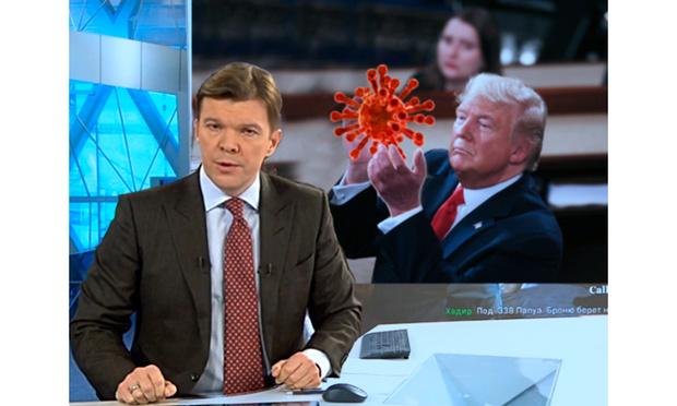 Фото №1 - Ведущий «Первого канала» связал коронавирус и Трампа, и теперь Интернет гадает, пошутил он или нет