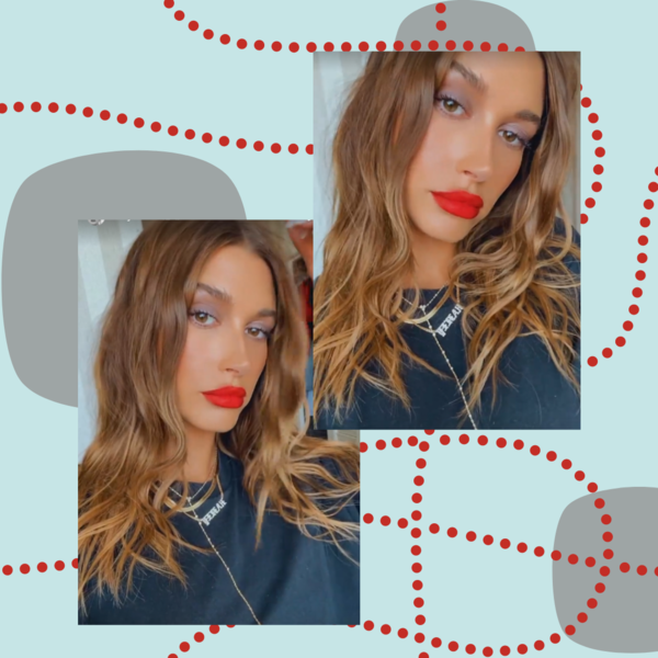 Фото №1 - Трендовый осенний макияж с акцентом на губы: показывает Хейли Бибер