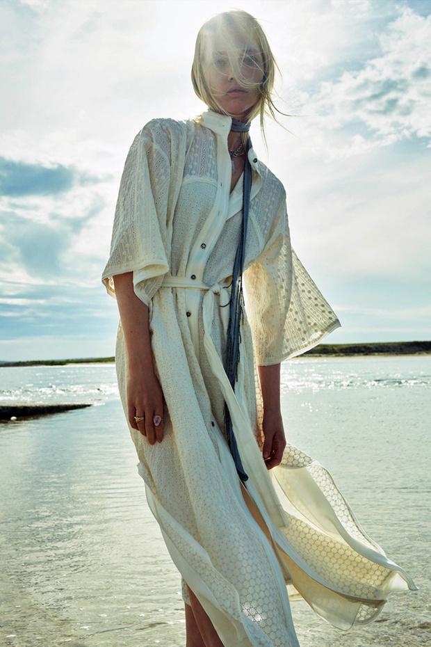 Фото №3 - Российская супермодель Саша Пивоварова в чарующей белоснежной рекламной кампании Zara