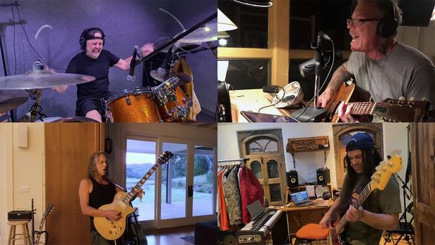 Фото №1 - Metallica опубликовала «карантинный» кавер на самих себя (видео)
