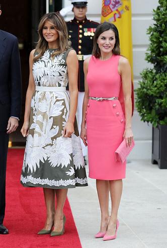 Фото №5 - Королева Летиция пришла на встречу с Меланией Трамп в платье Мелании Трамп