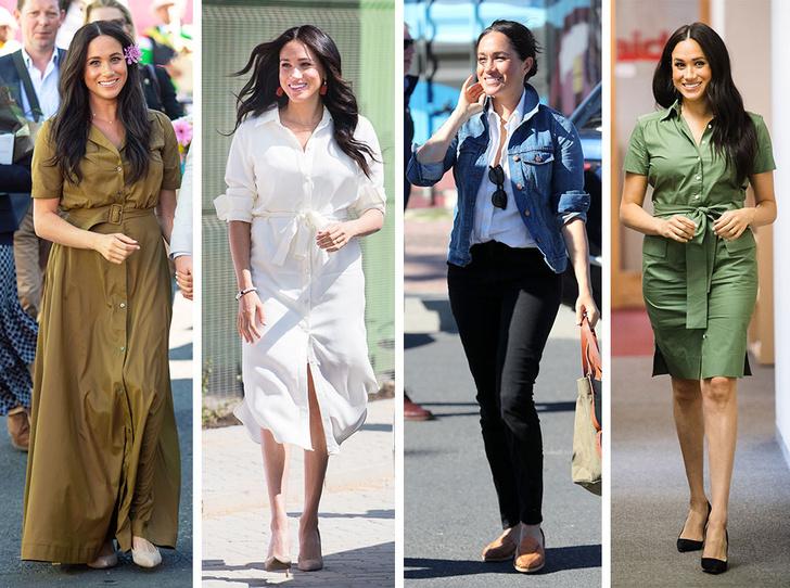 Фото №1 - Все наряды герцогини Меган в туре по городам Южной Африки