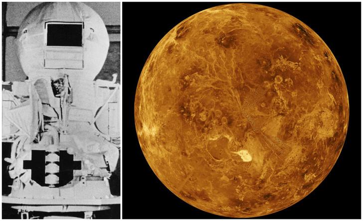 Фото №1 - 45 лет назад советский космический аппарат «Венера-9» приземлился на Венере и сделал ее фотоснимки