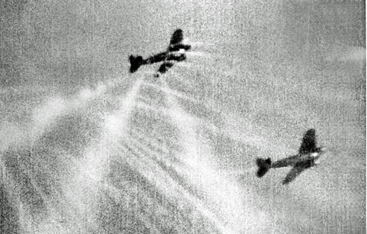 Фото №1 - Первая победа ВВС РККА над Luftwaffe: реальное видео воздушных боев Второй мировой