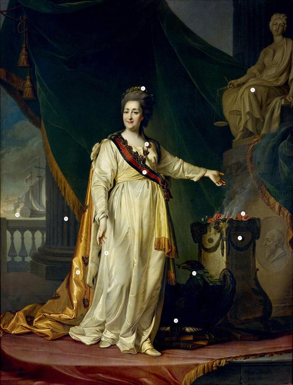 Фото №1 - Мать Отечества: 12 символов, зашифрованных в портрете Екатерины Великой