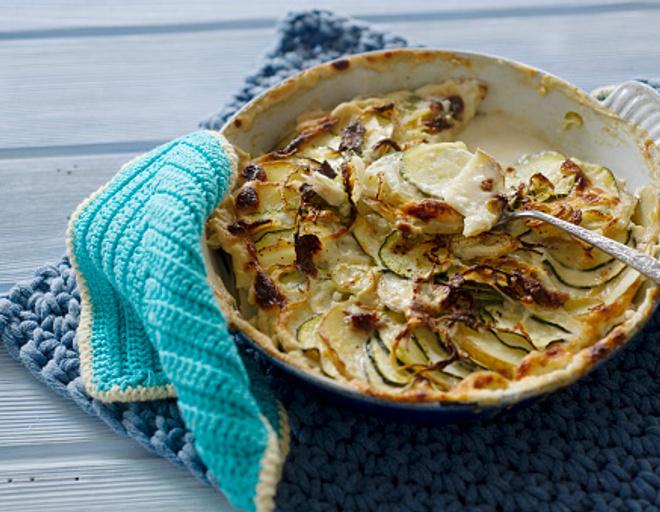 форель с картошкой
