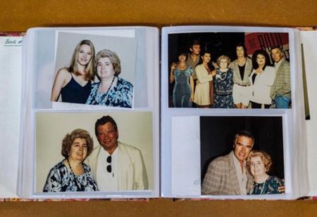 В комиссионку попал фотоальбом, и на всех снимках— одна и та же неизвестная женщина с голливудскими кинозвездами
