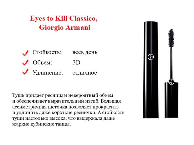 Eyes to Kill Classico, Giorgio Armani