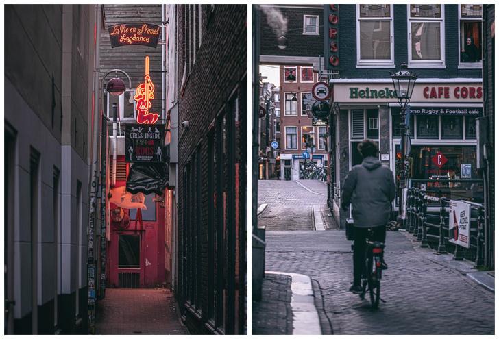 Фото №1 - Фотограф из Амстердама показал, как квартал красных фонарей живет при карантине