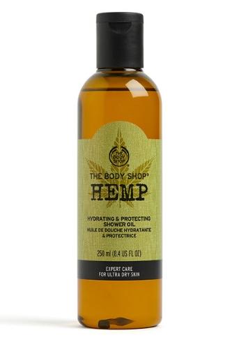 Масло для душа из серии «Конопляное масло» от The Body Shop