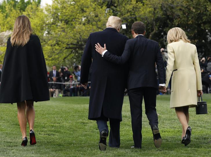 Фото №3 - Как Трамп Макрона принимал: самые яркие детали госвизита французской Первой пары в США