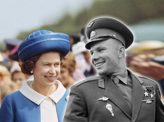 Фото №1 - Юрий Гагарин в Великобритании: как советский космонавт покорил Королеву и всех ее подданных
