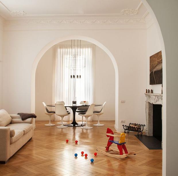 Фото №1 - Современная квартира в историческом доме в Риме
